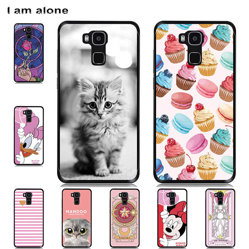 I am alone Phone Cases For Doogee Y6 5.5 inch Soft TPU Bags Mobile Cellphone Patterned Fashion For Doogee Y6 Free Shipping
