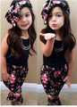 2016 Новый Модный бренд девушки установить Спортивный набор Детей красный и черный выбрать девушка подарок На День Рождения ребенка платье девушка одежда