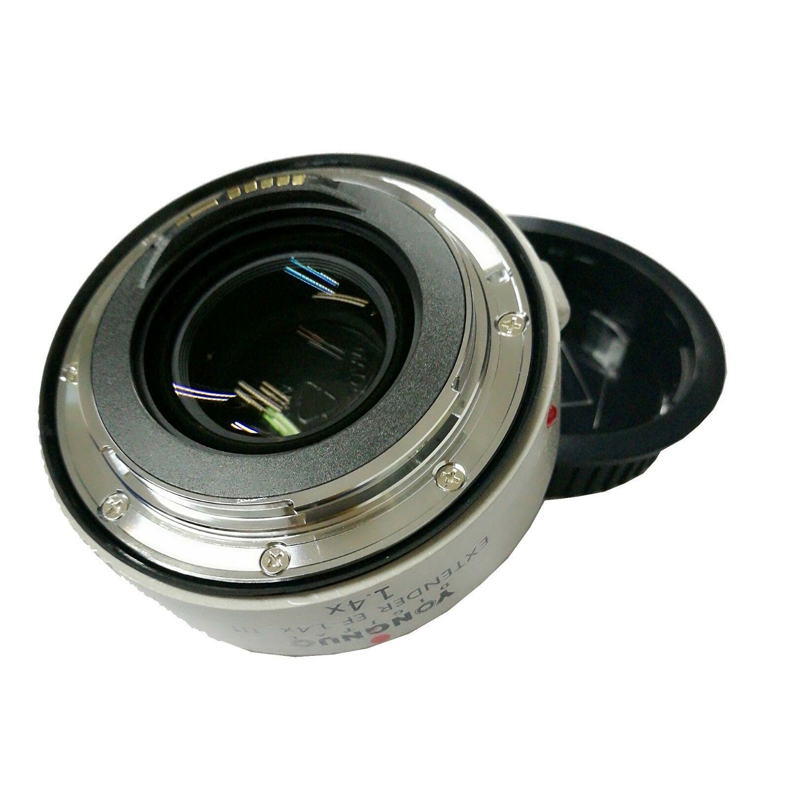 Yongnuo YN1.4XIII prolongateur de YN-1.4XIII EF 1.4X objectif de mise au point automatique téléconvertisseur pour Canon autofocus complet 1D X 1Ds 1D 70D 7D 80D 7DI - 6
