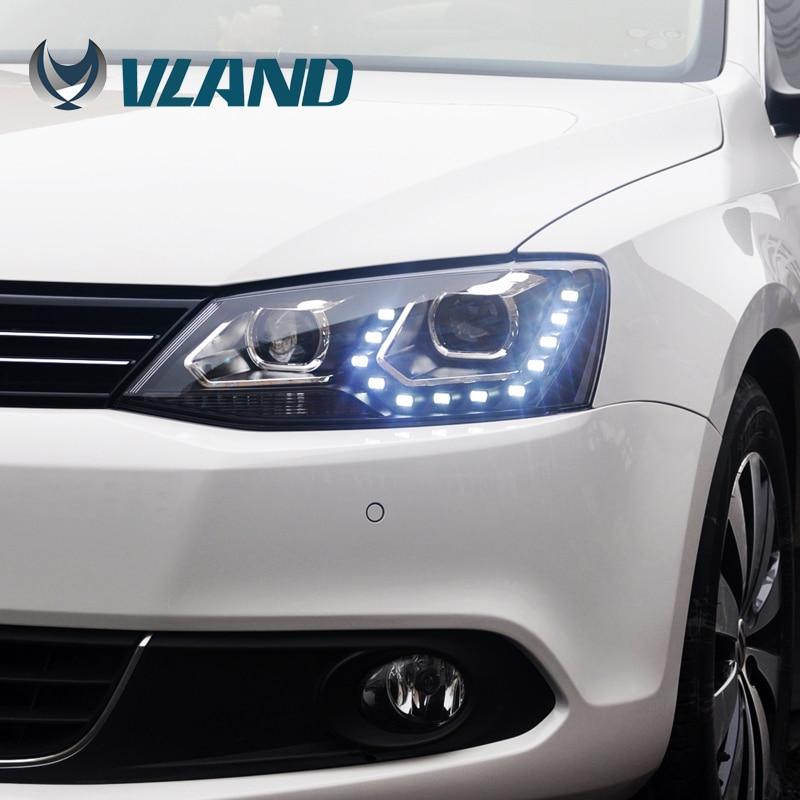 Free Shipping for VLAND Car Head Lamp for Jetta Mk6  Sagitar LED Headlight Projector lens Xenon Lamp HID free shipping for vland factory for car head lamp for audi for a3 led headlight 2008 2009 2010 2011 2012 year h7 xenon lens