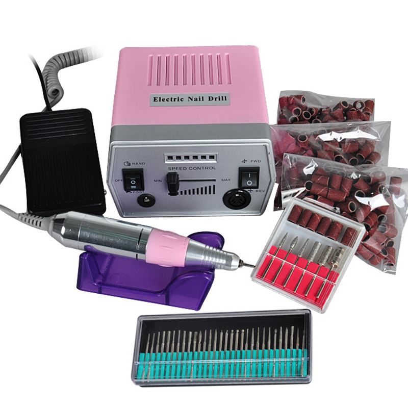 ФОТО Pro Electric Nail Manicure Polishing Machine Professional Manicure Pedicure Tool Electric Drill File Pen Nail Art Machine Set