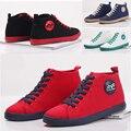 2016 Nueva Otoño de bota Zapatos de Lona Womer Casual Zapatos De Mujer Zapatos Negro Rojo con cordones Mujeres 'Zapatos planos Zapatos de Mujer