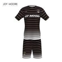 Профессиональный дизайн выцветает цвет черный и белый футбол Джерси высокого качества