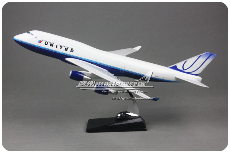 47cm Resin American United Airlines Airplane Model Boeing 747 Aircraft Model United States N193UA B747-400 Airbus Airways Model gjaal1341 geminijets american airlines n401yx 1 400 erj 170 commercial jetliners plane model hobby