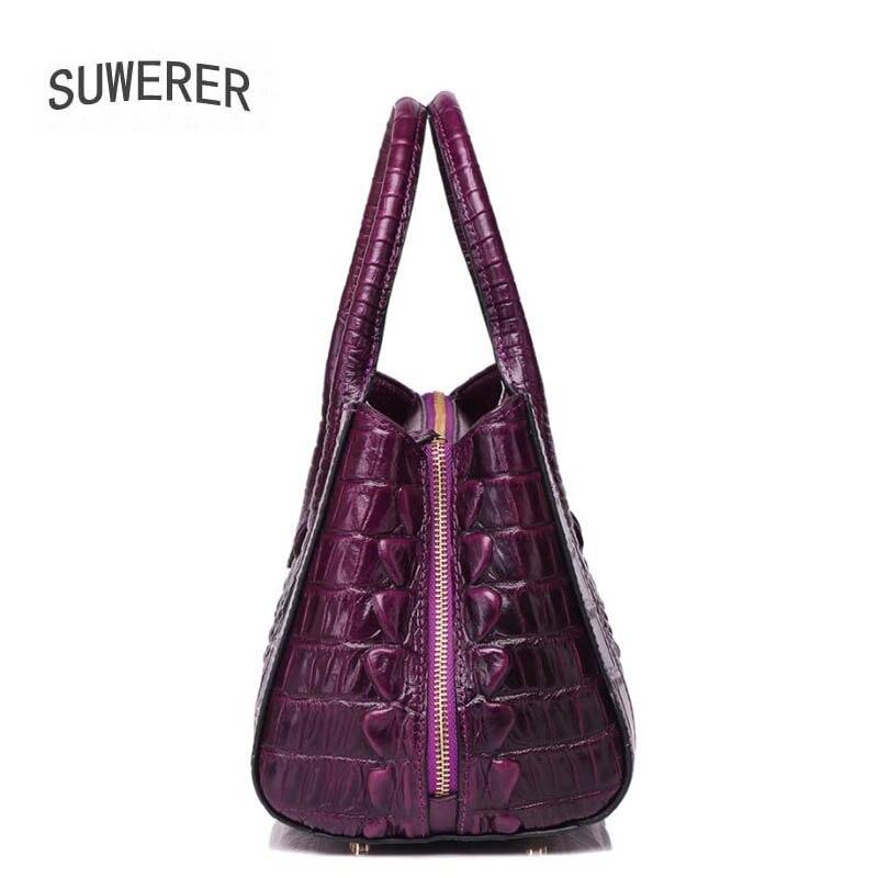 À Femmes De Cuir 2018 Designer Sac Nouvelles Crocodile Sacs Luxe Main Black Mode En Véritable Suwerer Modèle purple red ERAnOzqE