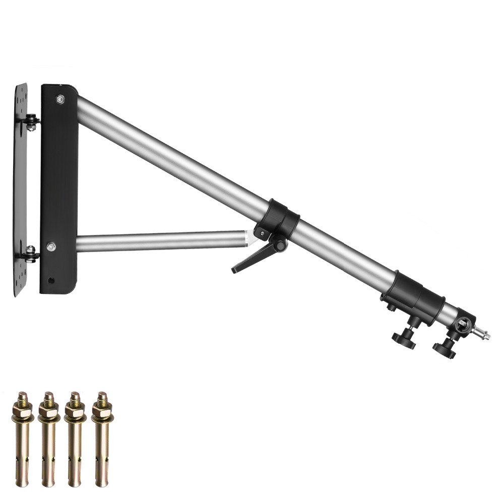 Neewer Wall Mounting Boom Arm with Triangle Base for Photography Studio Video Strobe Light Monolight Softbox Umbrella ReflectorNeewer Wall Mounting Boom Arm with Triangle Base for Photography Studio Video Strobe Light Monolight Softbox Umbrella Reflector