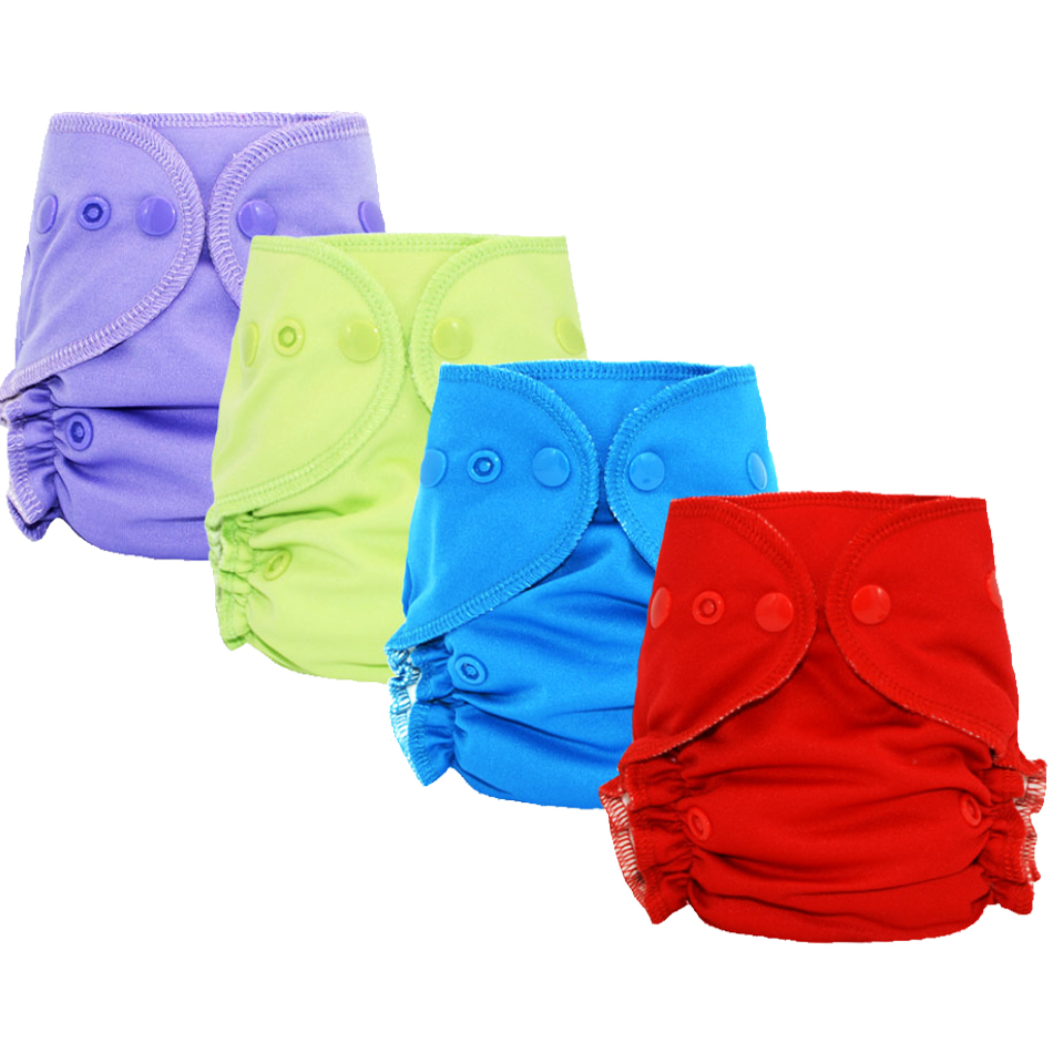 Miababy Wholesale (5pcs) Bamboo Cotton Newborn Fitted Diaper With Waterproof And Breathable PUL Outer