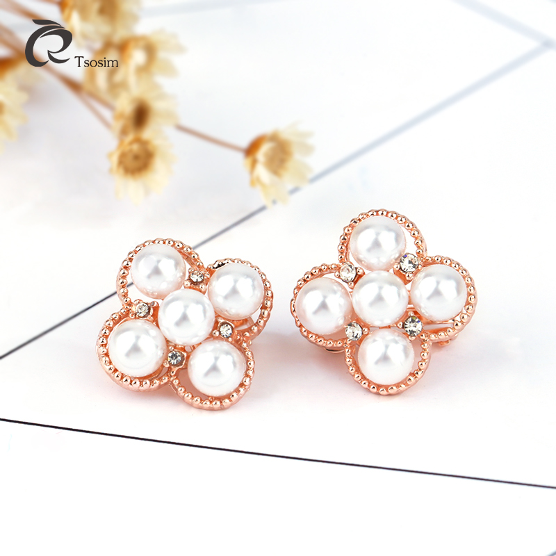 pearl earrings for woman fashion jewelry in clip no hole High quality  Earrings alloy ear Wholesale