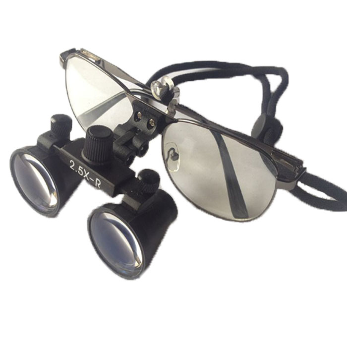 Dental Loupes 2.5X Binocular Surgical Loupes Lab Medical Magnifier WD 260-380MM Medical Magnifying Glass