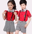 2016 New Kindergarten Summer Clothes Suit Summer School Clothes Children Kindergarten Pupils Class Service Uniforms