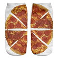 2016 Cute Lovely 3D Funny Pizza Design Printed Women Girl Children Ladys Socks Casual Cartoon Socks Unisex Low Cut Ankle Socks