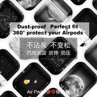New Hard Leather Case Protective Cover Bag Pouch For Apple Airpods/2 Bluetooth Earphone With Strap Shock Proof Fashion