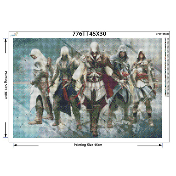 Assassin Creed 5d DIY Diamond Painting Cross Stitch Kits Full Diamond Embroidery 5D Diamond Needlework
