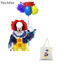 Patchfan Stephen Kings It heat press transfer stickers iron on patch DIY Handmade clothes jacket t-shirt thermal A1781