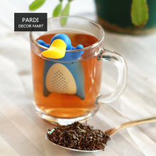 Фильтр для чая для повторного использования для чайника чашка утки утенок утконоса мистер маленький человек Силиконовый Чайный фильтр мешок сетчатого фильтра устройство для домашнего изготовления