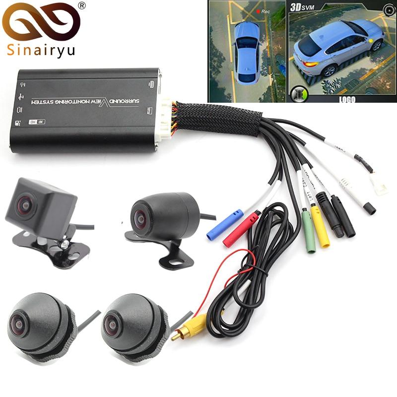 Новый 960 P 3D автомобиля 4 CH DVR Регистраторы Surround View мониторинга Системы 360 градусов для вождения Bird View панорама с 4 камеры