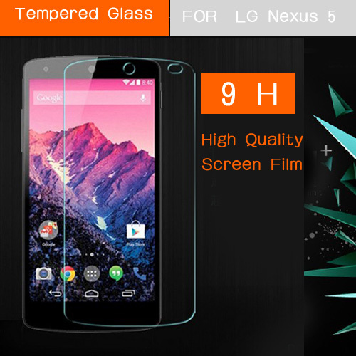 For LG Nexus5 Tempered Glass Screen Protector Film for LG Google Nexus 5 E980 D820 D821 Front Screen Protective Guard