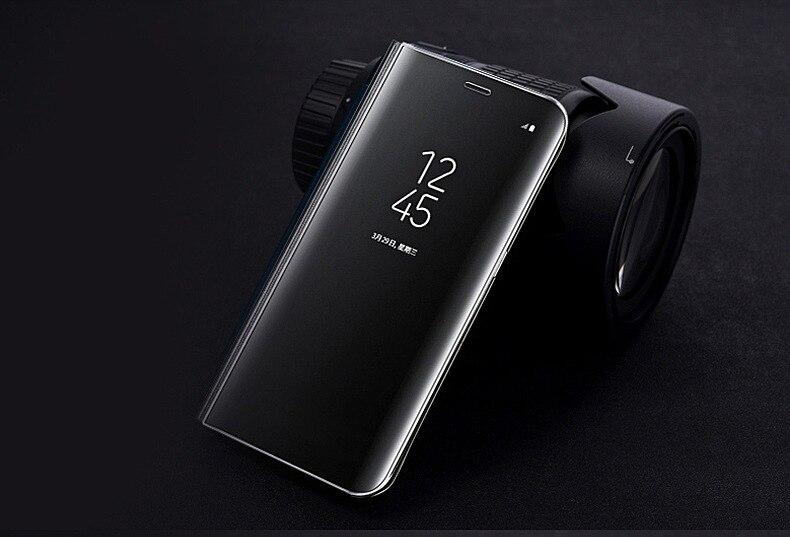Купить Новый Smart ясно зеркало View Case для samsung galaxy J4 j6 j8 2018 откидная крышка Подставка для samsung J2 pro 2018 j7 DUO смартфон на Алиэкспресс