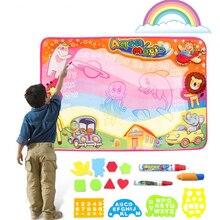 100x70 см детская Волшебная водная живопись, водная рисовальная игрушка, рисование, игрушки для письма, каракули, аквапудель, коврик, волшебные ручки, водное рисование