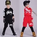 kid 2016 boys street dance two pcs of children's hip hop sport set