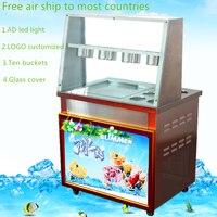 18 free air ship to your home 2017 CE 110V 220V fried ice cream roll machine ice pan machine thai rolled ice cream machine