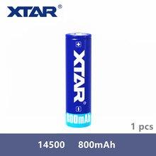 1 個オリジナル Xtar 充電式 14500 800mAh 3.7 の 3.7v 保護バッテリー懐中電灯ポータブル電源などのために設計され