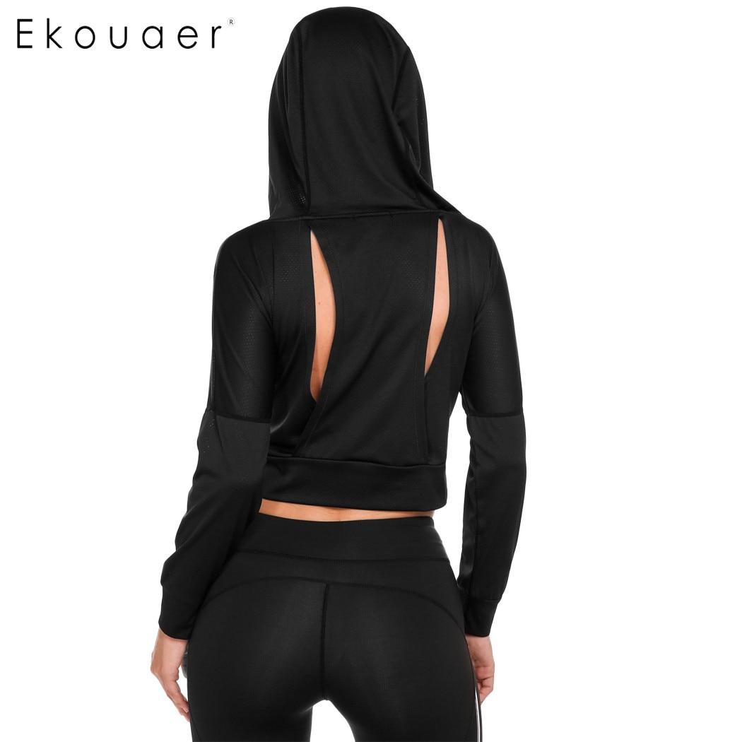 Ekuaer Fitness Hooded Γυναικεία Πουκάμισα 2018 - Αθλητικά είδη και αξεσουάρ - Φωτογραφία 4