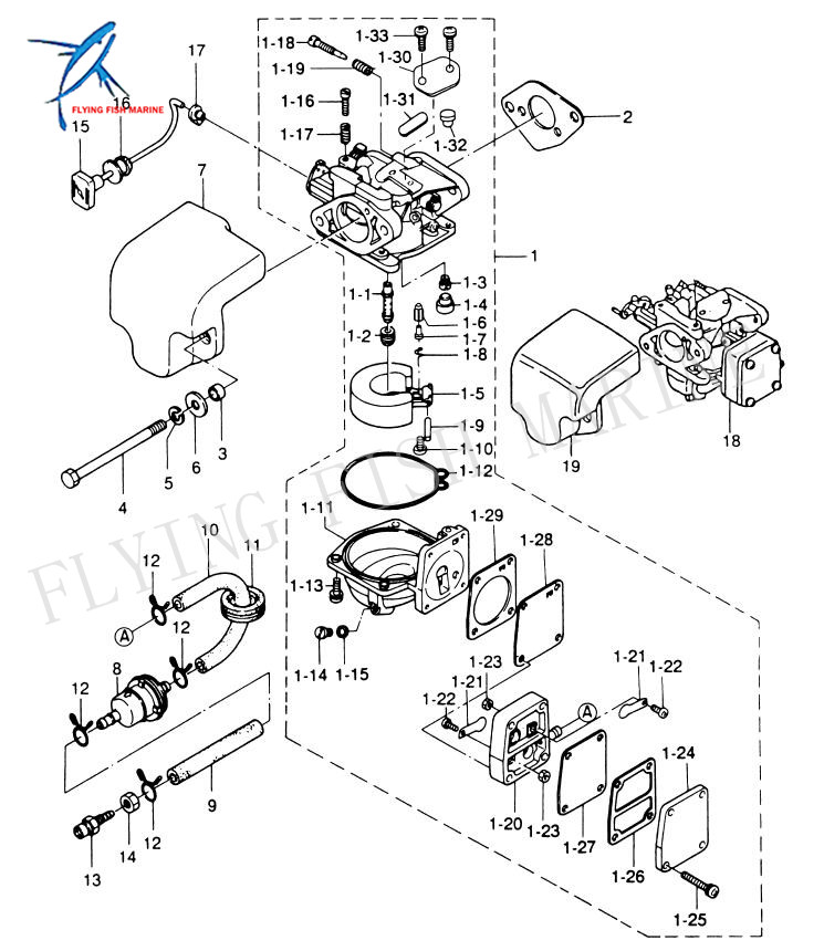 Outboard 2 Stroke Carburetor On 4 Stroke Engine Carburetor Diagram