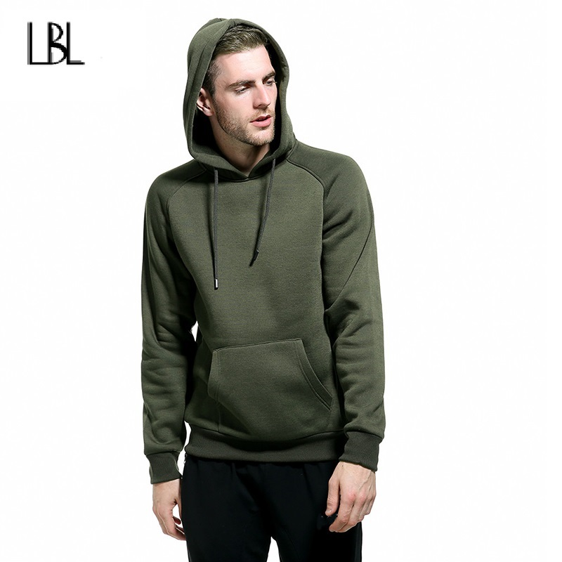 Casual Mens Hoodies Sweatshirts Solid Hooded Sportswear Men Fashion New Fitness Clothing Long Sleeve Slim Fit Hip Hop Streetwear