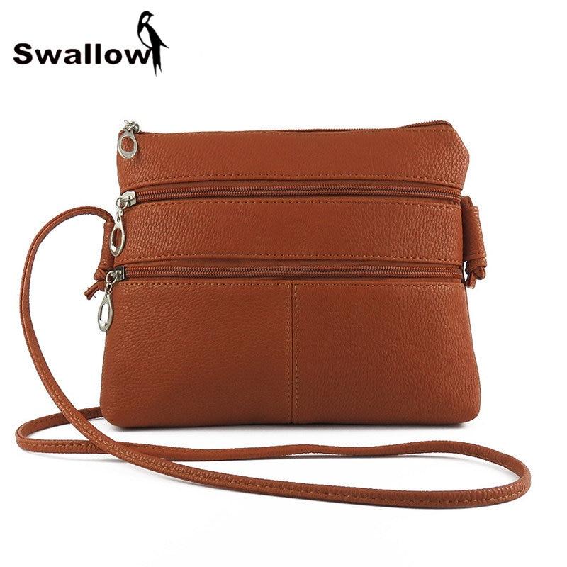 Elegant 2016 Retro Women Small Crossbody Bag PU Leather Shoulder Messenger Bag
