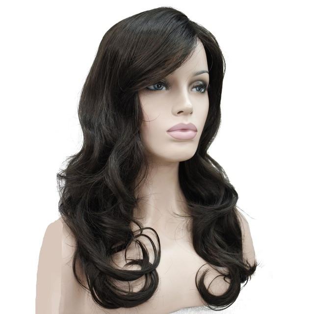 StrongBeauty wanita Wig Pirang Hitam Bob Rambut Sintetis Panjang  bergelombang Penuh Wig 7 Warna 704b713c4c
