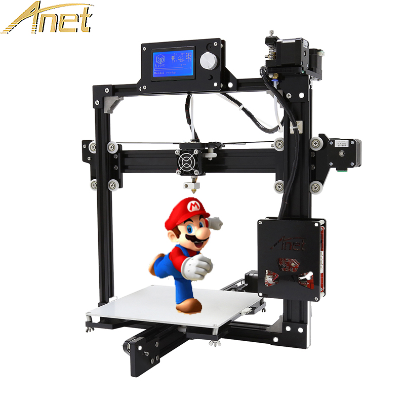 Ante A2 normal/auto leveling Large Printing Size impresora 3d printer 3D Printer Kit DIY Easy Assemble+Free 10m Filament 2004LCD free dhl shipping 3d printer linear guide diy kit large printing speed 20 180mm s 3d metal printer support auto leveling