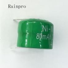 Rainpro 5 개/몫 Ni MH 배터리 80 mAh 2.4 V Ni MH 충전식 버튼 셀 배터리