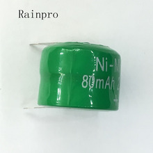 Rainpro 5PCS/LOT  Ni MH Batteries With Pins 80mAh 2.4V Ni MH Rechargeable Button Cell Battery