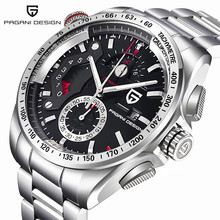 Luxury Brand PAGANI DESIGN Fashion Chronograph Sport Watches Men reloj hombre Full Stainless Steel Quartz Watch Clock Relogio pagani design luxury brand chronograph business watches men waterproof 30m calendar quartz watch steel clock men reloj hombre