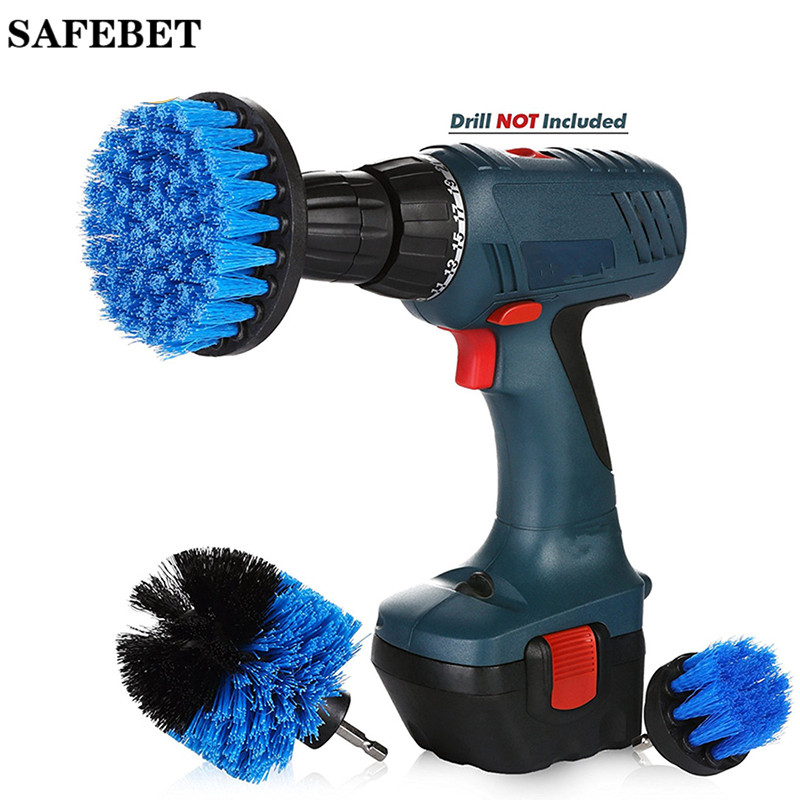 3pcs Power Scrub Drill Brush Clean Brush Bathroom Surfaces Tub Shower Tile and Grout All Purpose Power Scrubber Cleaning Kit