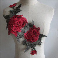 New Arrival Craft Collar Flower Venise Sequin Floral Embroidered Applique Trim Decorated Lace Neckline Collar Sewing
