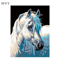 Horse Cheap Oil Painting Diy Frameless Lion Kings DIY Oil Painting By Numbers Children Pictures Drawing