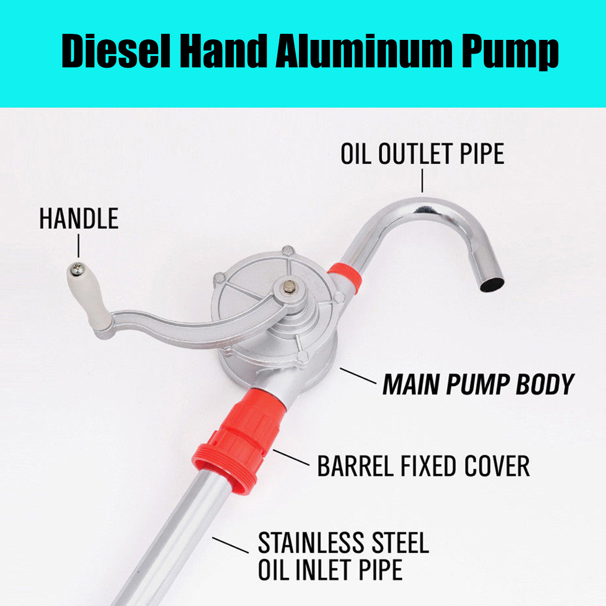 Universal Handheld Pump Battery Operated Liquid Transfer Siphon Hose Electric Oil Pumping Pipe Fish Tank Water Changer Auto Easy To Lubricate Fuel Supply System