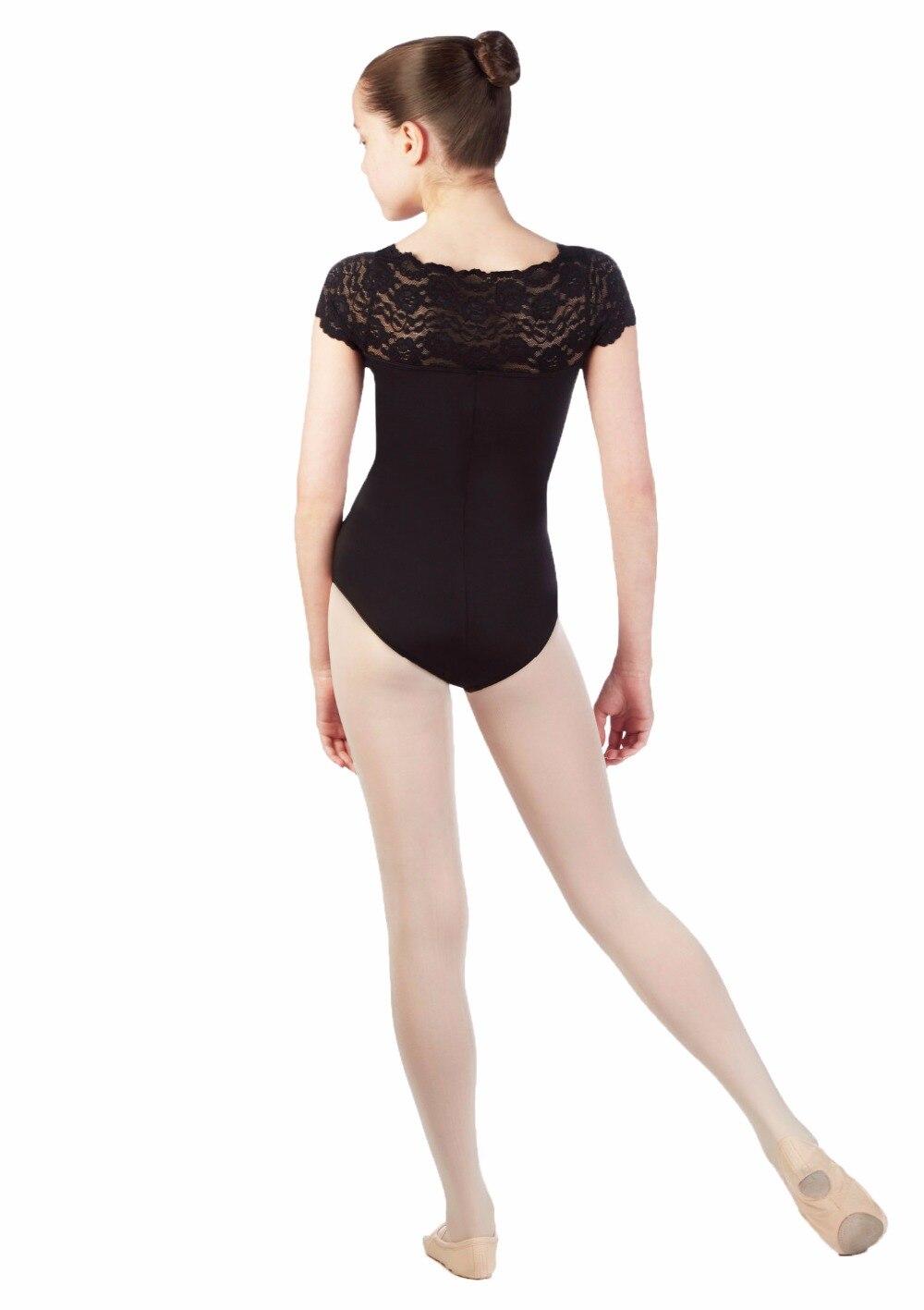 e9470d1a5089 Aliexpress.com   Buy LZCMsoft Kids Cap Sleeve Black Lace Dance ...