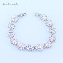 L&B Australia Crystal Water Drop silver 925 Jewelry Sets For Women Bracelet/Earrings/Necklace/Pendant/Rings