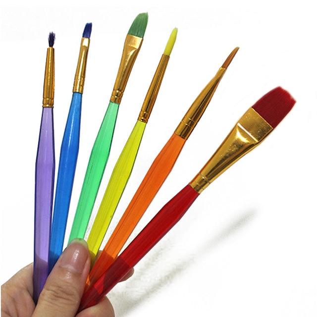 6Pcs/Set Colorful Fondant Brush Cake Decorating Tools Painting Icing ...