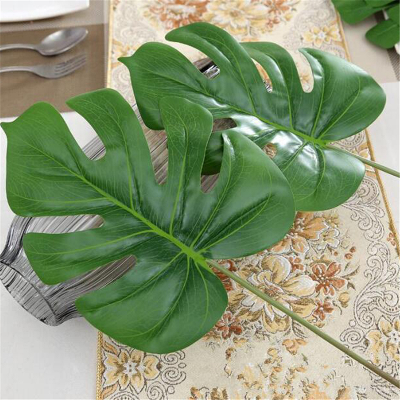 Buy 1piece large artificial fake monstera for Artificial banana leaves decoration