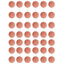 METABLE 4 Pack Rose Gold Party Supplies Glitter Grand Paper Dots Hanging For Bachelorette,Wedding, Birthday Decoration