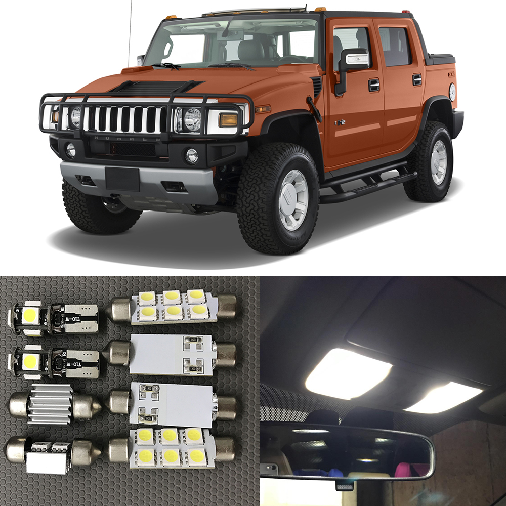Popular hummer h2 interior buy cheap hummer h2 interior lots from 15pc white canbus auto interior led light bulbs kit for 2003 2004 2005 2006 2007 2008 vanachro Images