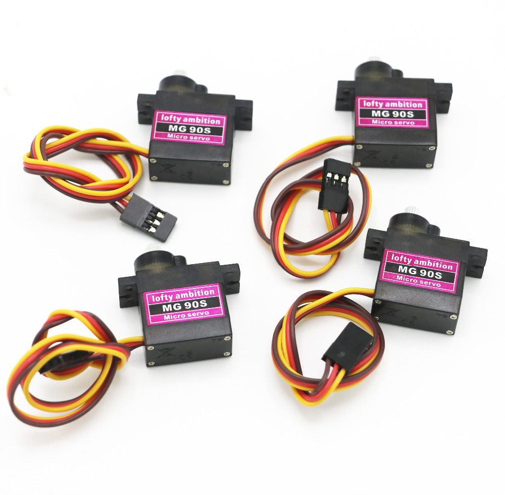 4pcs/lot Lofty Ambition Mg90s 9g Metal Gear Upgraded Sg90 Digital Micro Servos For Smart Vehicle Helicopter Boart Car #1