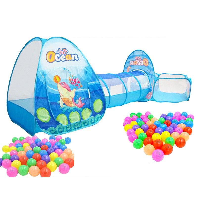 Tente bébé maison extérieur intérieur maison balle maison jouer enfants tente maison jeu Cubby Tunnel jouet Portable bébé enfants jouer tente