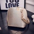 Crossbody bag female 2016 women shoulder bags coat of paint shiny handbag shaping brief shell small bag