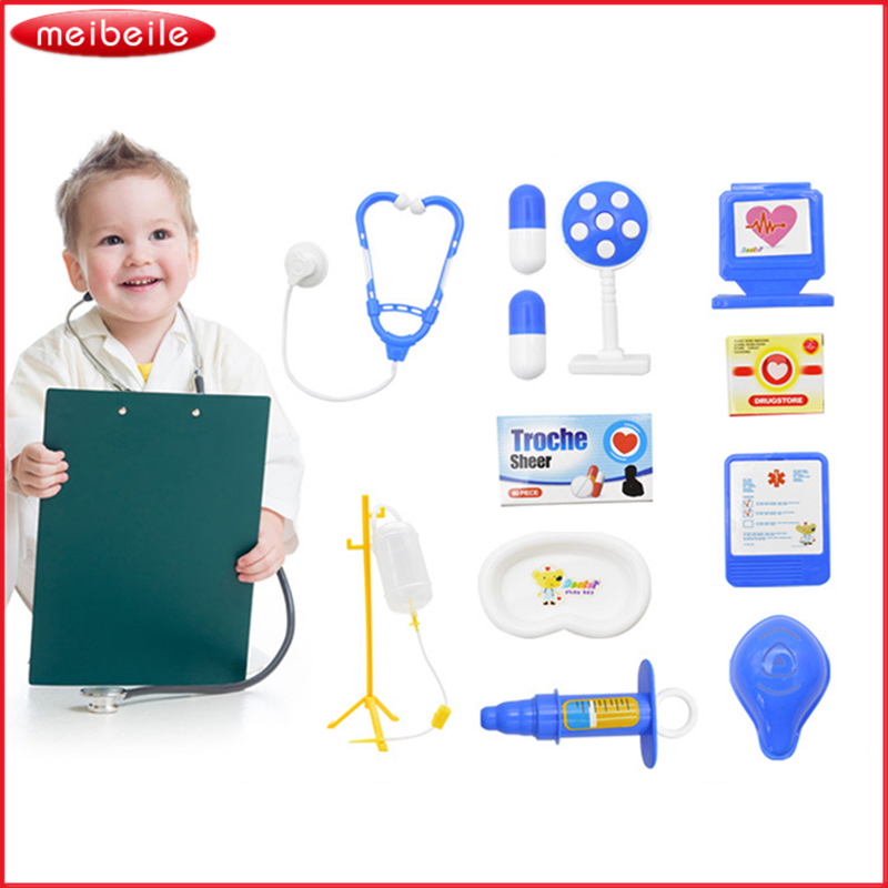 Baby Funny Toys Doctor Pretend Play Sets Simulation Medicine Box Medical Kit Doctor Toys Stethoscope Injections Children Gifts