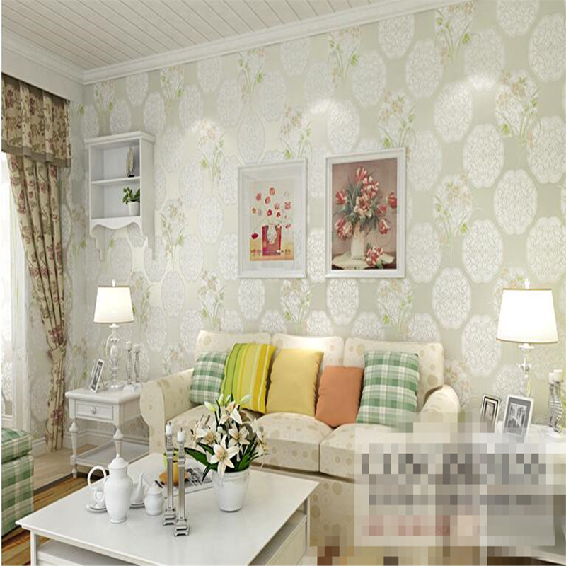 beibehang Non woven wallpaper in the warm pastoral bedroom bedroom full of TV background wall paper papel de parede 3d wallpaper beibehang papel de parede retro classic apple tree bird wallpaper bedroom living room background non woven pastoral wall paper